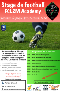 Plaquette Stage FCL2M Academy